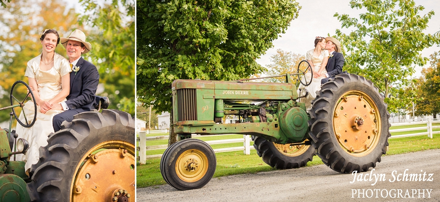 john deere tractor wedding