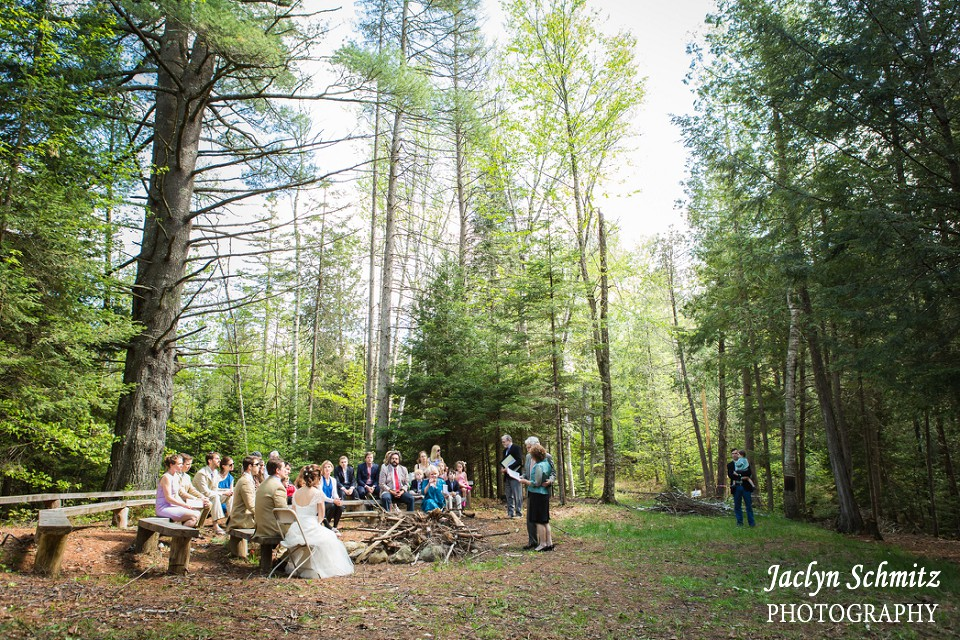 ketubah signing in secluded forest vermont